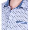 camisa microraya estampada manga larga