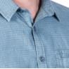 camisa lli estampada màniga curta sobretintada