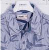 pinstriped printed short sleeve shirt