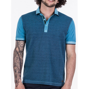 overdyed two colors pique polo