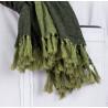 overdyed jacquard scarf